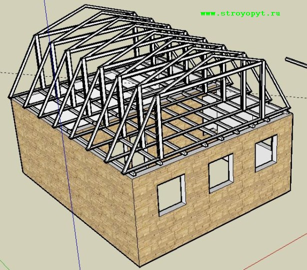 конструкция мансардной крыши.