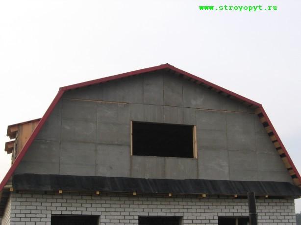 Монтаж профнастила на мансардную крышу своими руками 4