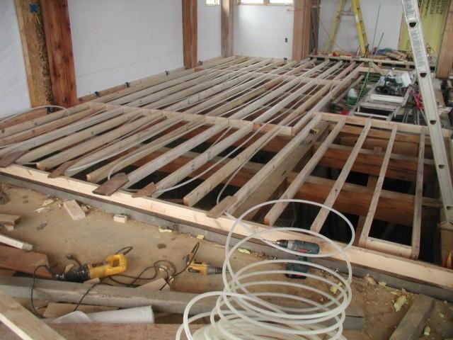 Внутренние работы, начало - Строительство своего дома