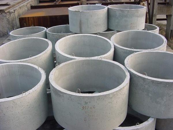 Бетонные и железобетонные кольца для колодцев канализации и септиков